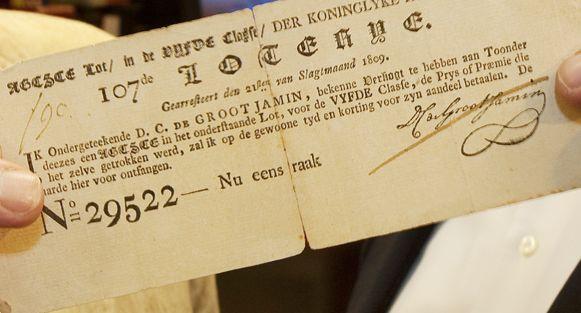 Eeuwenoud staatslot uit 1809