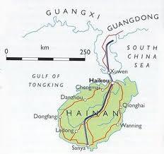 Het subtropische eiland Hainan aan de zuidkant van China