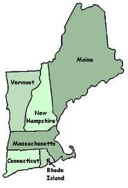 New England kaart