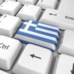 Griekenland vlag op keyboard