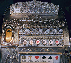 de eerste video poker en voorloper van de slotautomaat