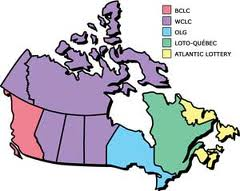 Canada, verdeling grondgebied loterijen