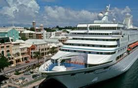 Cruiseschip in Hamilton, Bermuda