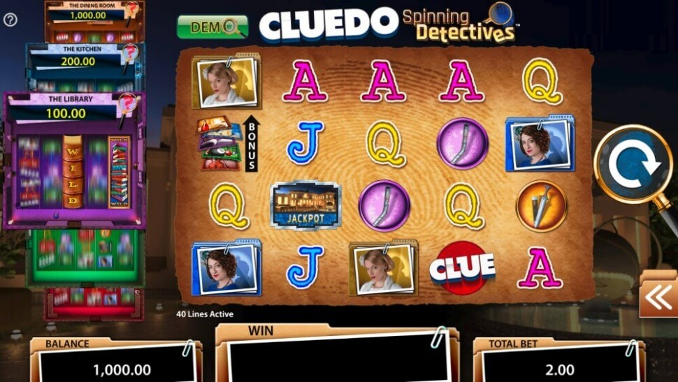 Casino.nl spelreview CLUE Spinning Detectives SG Interactive