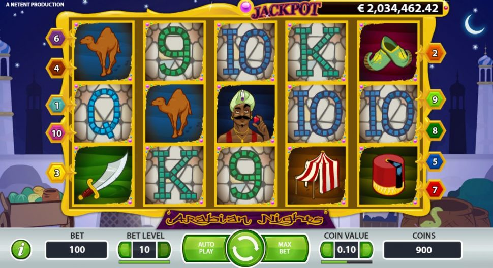 arabian night Netent jackpot slot