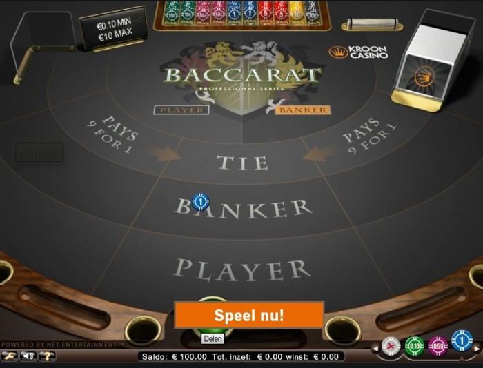 speel baccarat