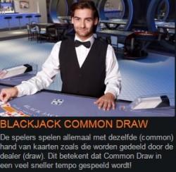 Blackjack common draw