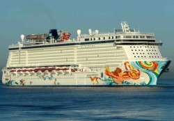Een casino cruiseschip uit de Norwegian Cruise Line