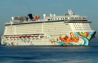 Een casino cruiseschip uit de Norwegian Cruise Line