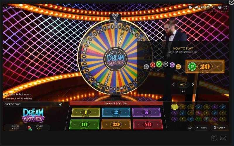 dreamcatcher live casino.nl