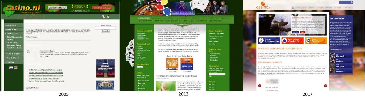 casino.nl door de jaren heen