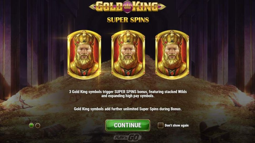 play n go gold king videoslot super spins
