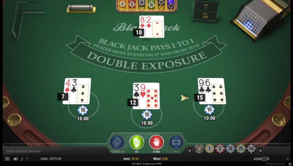 casino.nl spellen Play n Go BlackJack double exposure ingame