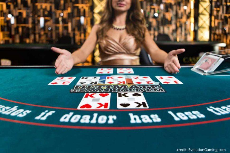 casion.nl Evolution Gaming ultimate texas holdem poker