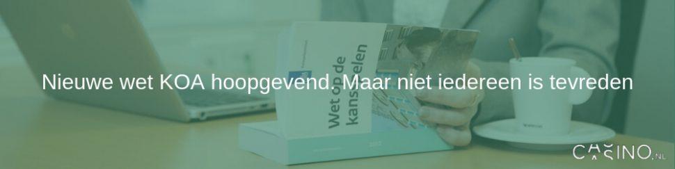 Casino.nl post nieuwe wet koa hoopgevend