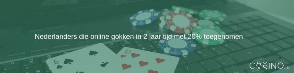 Nederlanders die online gokken in 2 jaar tijd met 20% toegenomen