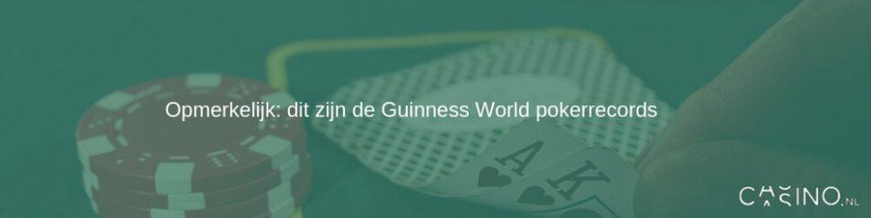 Guinness world poker records