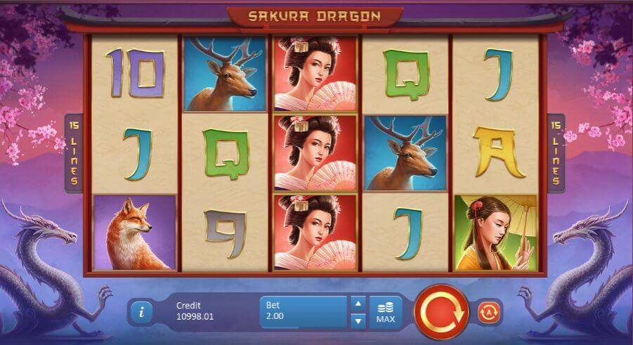 Playson Sakura Dragon spelen