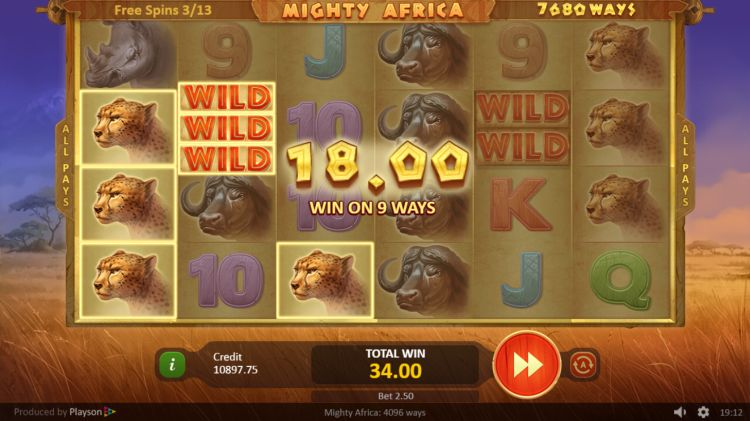 Playson Mighty Africa spelen