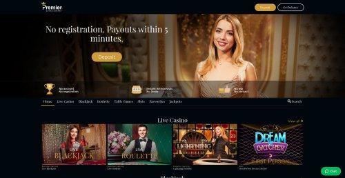 casino.nl review premier live casino screenshot homepage