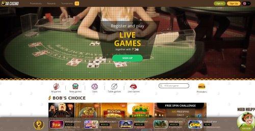 casino.nl casino review screenshot bob casino