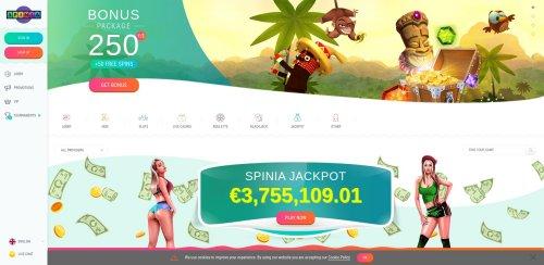 casino.nl casino review screenshot spinia