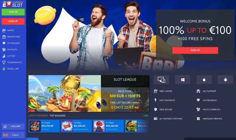 casino.nl review EUslot casino homepage screenshot april 2020