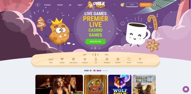 casino.nl review Cookie Casino homepage screenshot april 2020