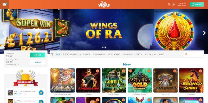 casino.nl review slotty vegas casino homepage screenshot april 2020