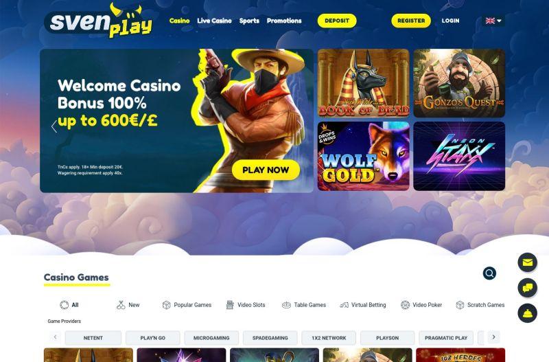 casino.nl svenplay homepage screenshot september 2020