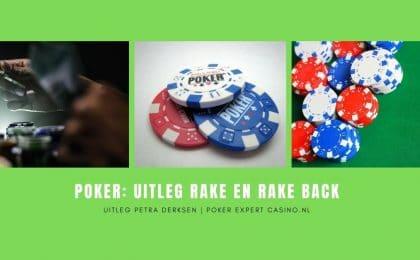 poker uitleg rake en rake back