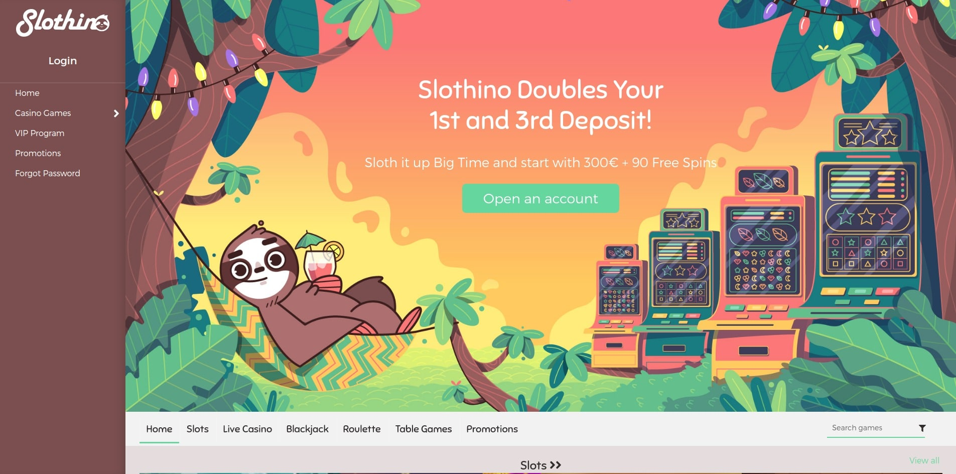 slothino casino homepagina