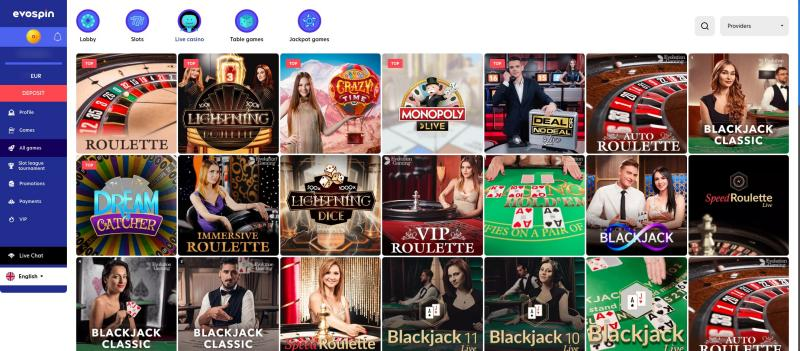 Casino.nl review Evospin live casino aanbod