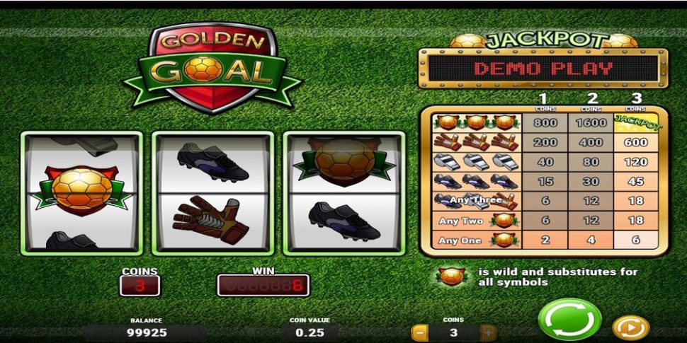 golden goal voetbal slot van Play'N Go
