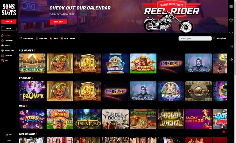 Casino.nl review Sons of Slots homepages screenshot juni 2021